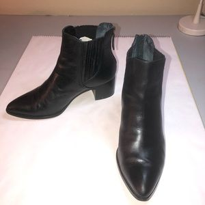 Newly refinished leather Halogen booties